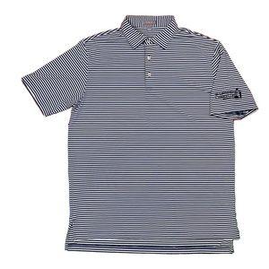Peter Millar Quick Dry Striped Golf Polo Shirt L